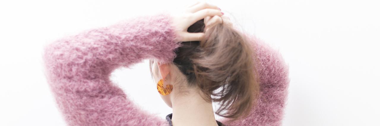 =こなれ感のあるヘアアレンジ!簡単にできるまとめ髪の作り方