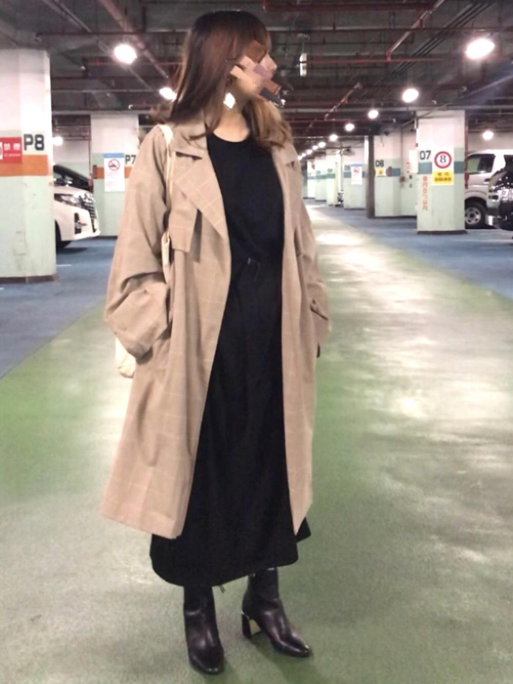 トレンチ コート 黒
