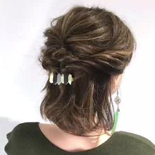 2019春 結婚式お呼ばれ髪型 長さ別 簡単セルフヘアアレンジ C